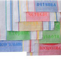 """К-т полотенец 7 - 50*70 п/лён """"Неделька"""" (Микс дизайнов, шт)"""