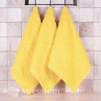 Полотенце махровое 30*50  пл 400 АПЕЛЬСИНЫ (Желтый, шт)