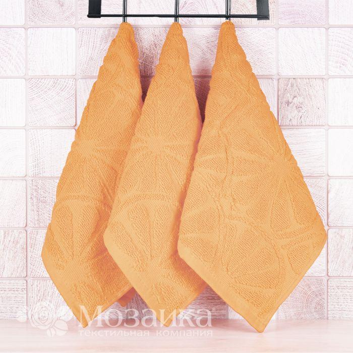 Полотенце махровое 30*50  пл 400 АПЕЛЬСИНЫ (Оранжевый, шт)