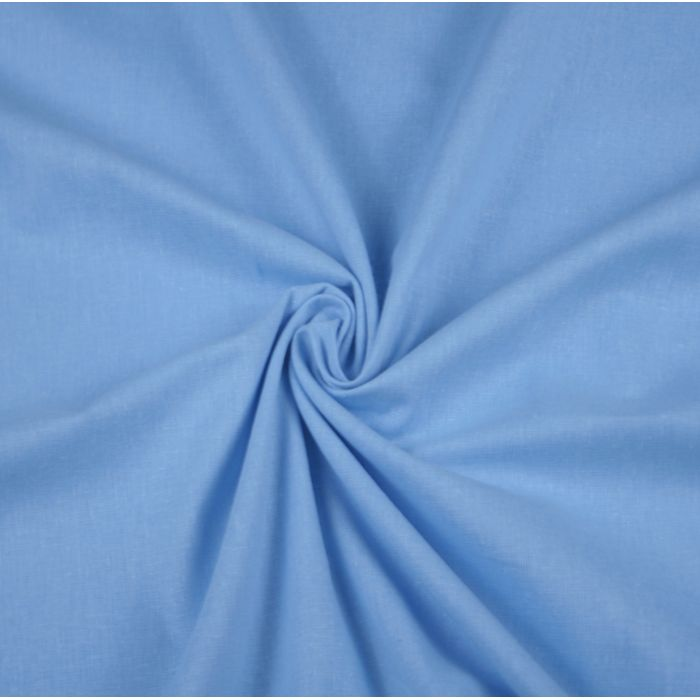 Бязь гладкокрашеная голубая от производителя Иваново