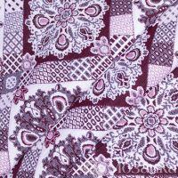 Ткань мебельная Романтика ш 150 пл 320 (Узоры красный, м)