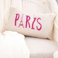 Подушка п/лён 30*50 декор (Париж, шт)