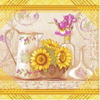 Ткань вафельная набивная ш 50 (20119/1 Натюрморт, м)