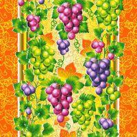 Ткань вафельная набивная ш 50 (19929/1 Виноград, м)