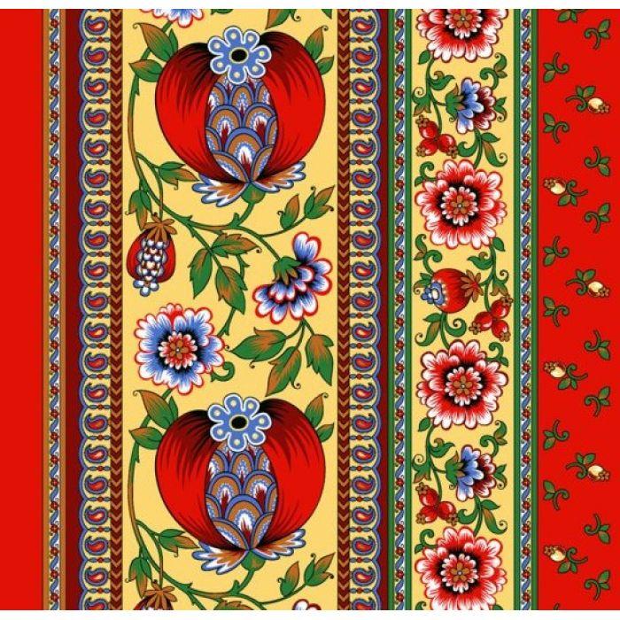 Ткань вафельная набивная ш 50 (19039/1 Гранатовый браслет, м)
